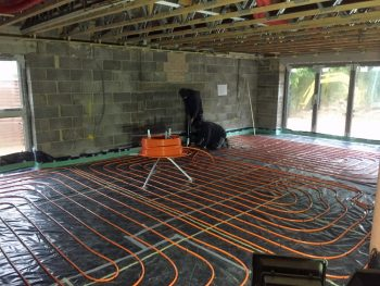 Underfloor heating screed