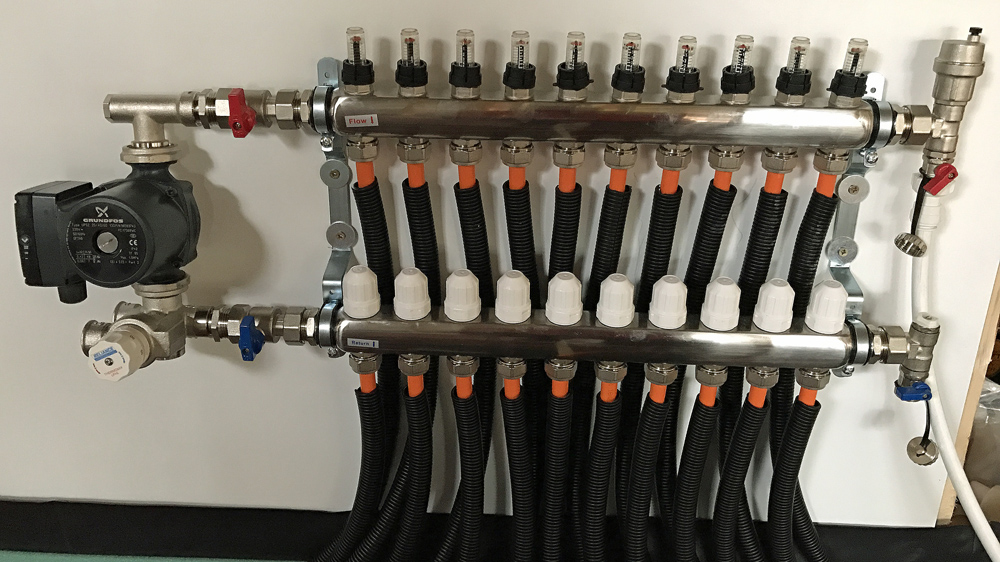 thermoscreed UFH manifold