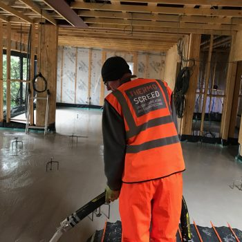 Thermo screed - liquid screed pour
