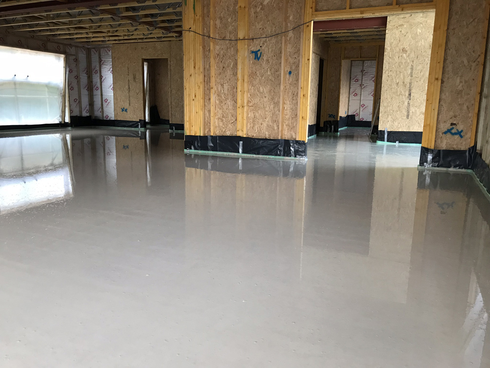 Thermoscreed - liquid screed underfloor heating